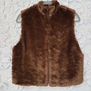 Bechamel Petites Faux Fur Zip Vest Size  PS NWT